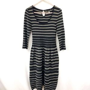 Anthro Knitted + Knotted Stripe Sweater Dress